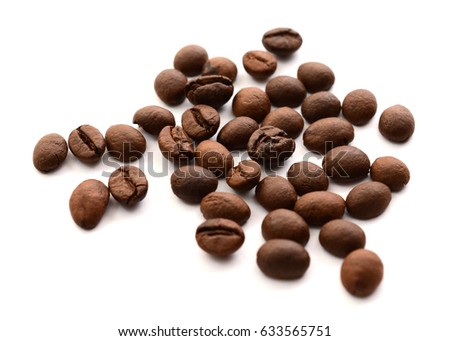Brown And Black Coffee On White Backgrounds