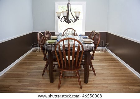 brown and blue dining room stock photo 46550008 shutterstock