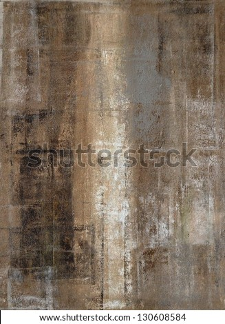 Brown And Grey Abstract Art Painting Stock Photo 130608584