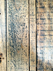 brown and lightbrown planks with beautiful black wooden structure. Background wood in close up.