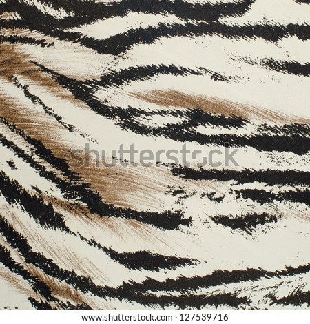 stock photo brown and white tiger skin artificial pattern background 127539716 - Каталог — Фотообои «Животные»