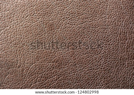 Brown Artificial Leather Texture