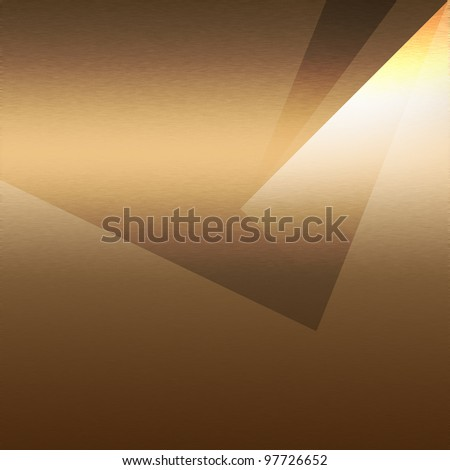brown background metal texture abstract shapes and beam of spot light