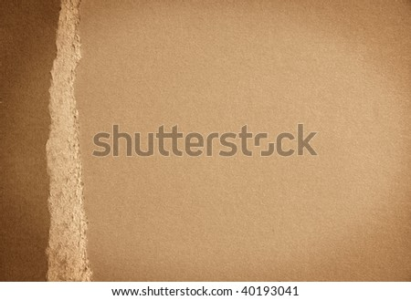 brown background paper with brown border on the left