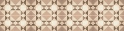 Brown beige traditional motif tiles texture background banner panorama - Vintage retro cement tile with triangular square rhombus diamond pattern