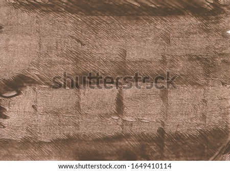 Brown blurred background. Abstract brown watercolor. Brown painting texture