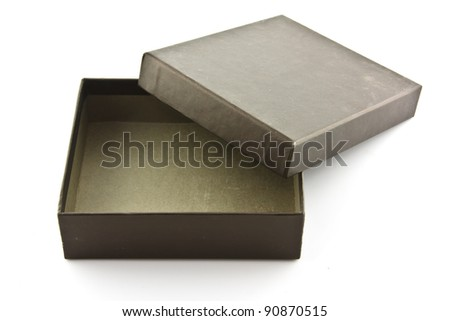 brown box on white isolated