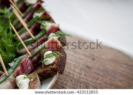 Royalty free stock photos and images brown bread canape for Canape sandwiches