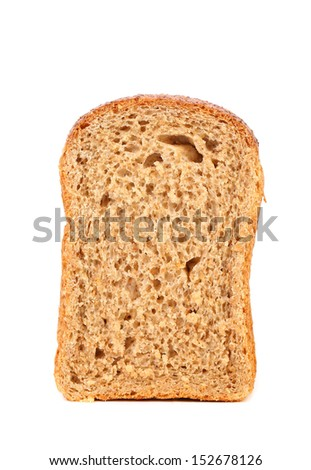 Brown bread slice