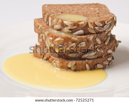 brown bread with condensed milk