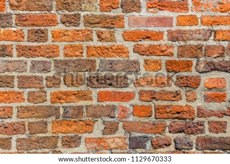 Brown brick wal asl grunge background with copy space #1129670333