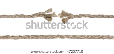 Brown broken rope