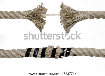 Brown broken rope