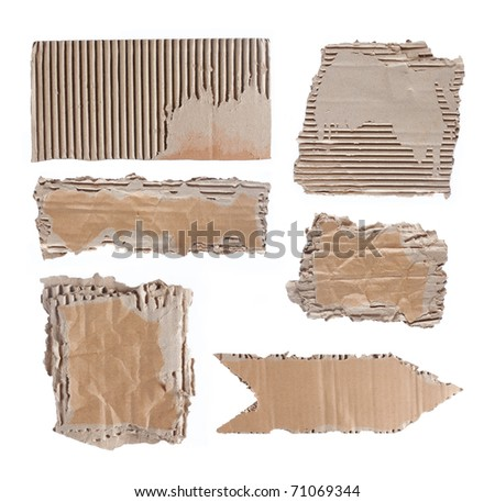 brown cardboard paper over white background. each shoot separately