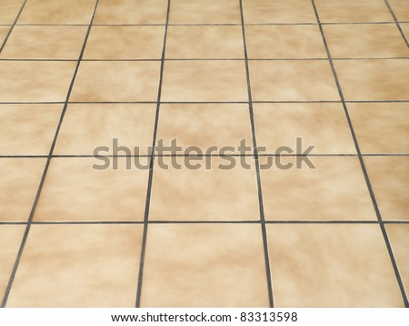 Brown ceramic floor tiles closeup texture