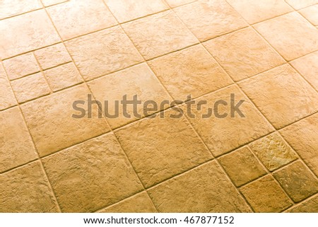 Brown Ceramic Floor Tiles Closeup Texture Background Ez Canvas