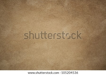 Brown chamois texture, fluffy and soft