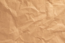 Brown clumped Paper texture background, kraft paper horizontal with Unique design of paper, Natural style For aesthetic creative design