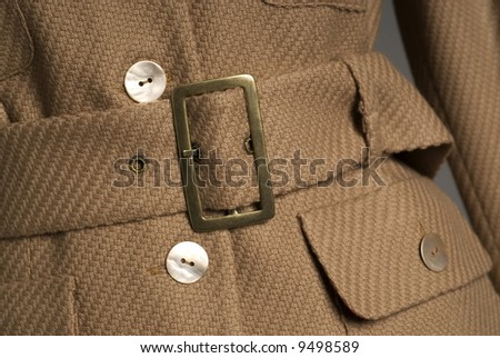 Brown coat with belt