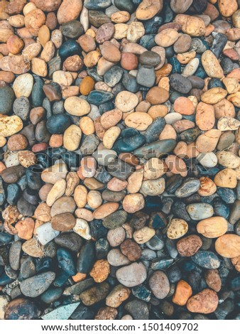Brown cobble pattern and background