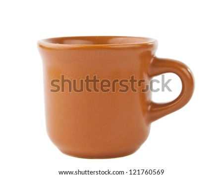 brown coffee cup isolated on white background