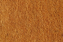 Brown coir natural fiber doormat, Close up details texture of coconut doormat, Plain natural dried mat and trap dirt outside your entrance, Abstract background.