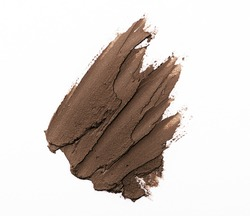 Brown color eye shadow make up cream on white