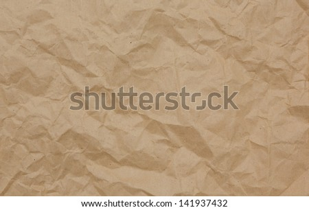 brown color paper bag background and texture