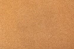 Brown cork board texture background, close up