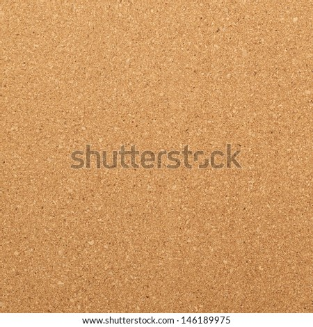 Brown cork mat as abstract texture background composition, top view above