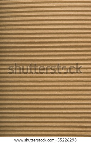 brown corrugated cardboard texture, striped horizontally paper