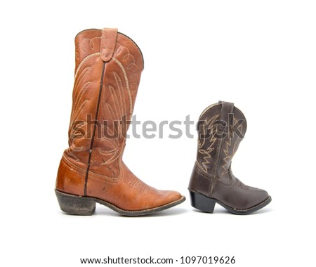 115c9e7b236 Free photos A pair of brown ladies cowboy western boots isolated on ...