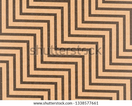 Brown craft paper with a zigzag pattern #1338577661