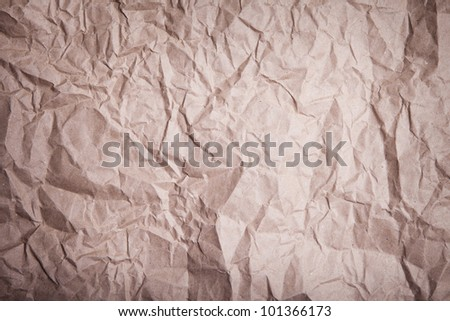 Brown crease-paper texture - stock photo