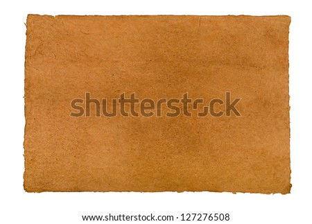 brown daphnepaper with leathery texture
