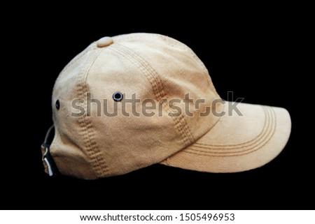 Brown Denim Cap or Baseball Cap
