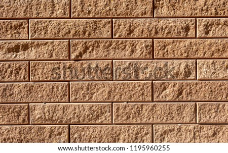 Brown detailed high resolution brickwork texture background - stock photo