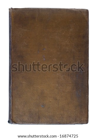 Brown Dirty Worn Linen Book Cover From the 1920s Background