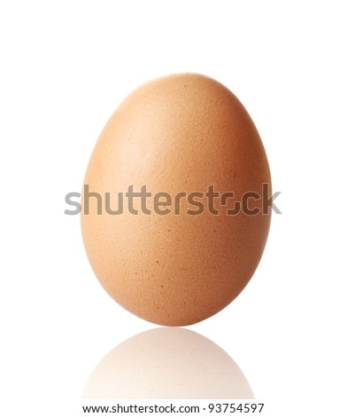 Brown egg isolated on white