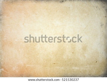 brown empty old vintage paper background. Paper texture - Shutterstock ID 521530237
