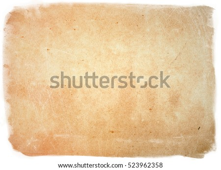 brown empty old vintage paper background. Paper texture #523962358