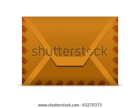 Brown Envelope, Clipping path included.
