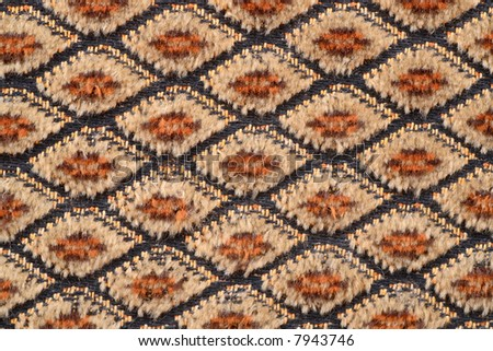 brown fabric material texture with rhombs