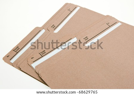 Brown File Folders