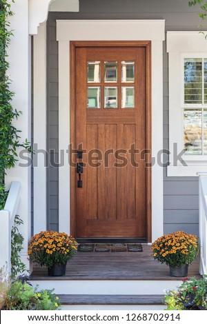 Brown front door #1268702914