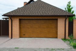 Brown garage sectional doors,  industrial sectional gate