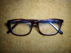 brown glasses with myopic lenses
