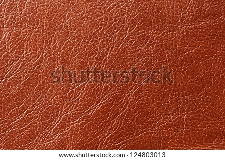 Brown Glossy Artificial Leather Texture