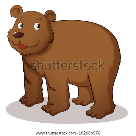 Brown grizzly on white background - EPS VECTOR format also available in my portfolio.