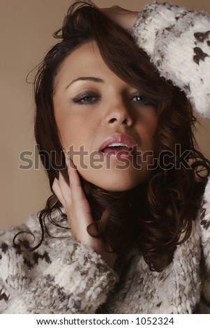 stock photo : Brown hair female